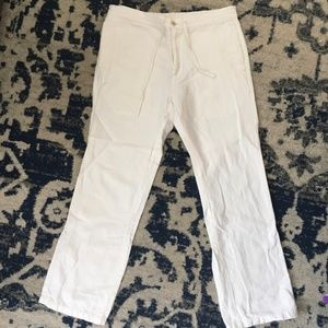 MEN'S Calvin Klein White Linen Blend Pants SIZE M